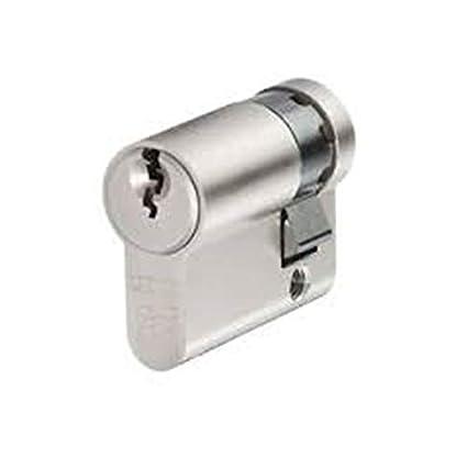 iseo cerraduras 820930109 iseo F5 de medio descentralizado 40 mm 30 – 10 monoprofilo NIQUELADO Clave