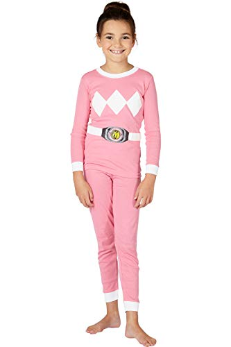 INTIMO Girls' Big Pink Ranger Pajama Set, 8 ()