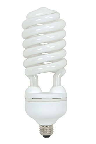 Satco S7339 55 Watt (250 Watt) 3700 Lumens Hi-Pro Spiral CFL Daylight White 5000K Medium Base 120 Volt Light Bulb (Renewed)