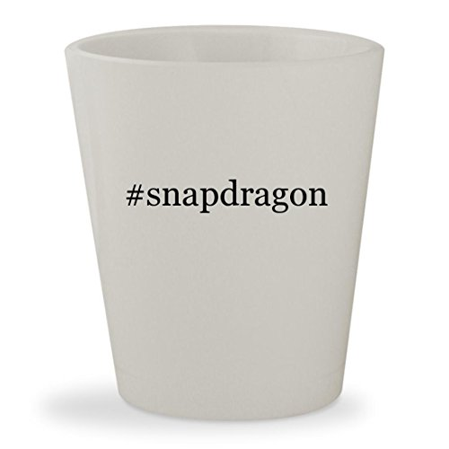 #snapdragon - White Hashtag Ceramic 1.5oz Shot (Exp Phos)