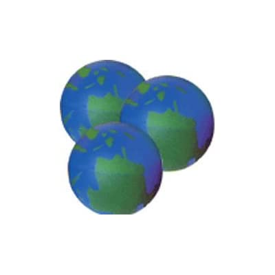 FNN 6 Earth Globe Stress Squeeze Relax Balls, Therapy, Prizes, Stocking Stuffers, Gifts, Office Toy: Toys & Games