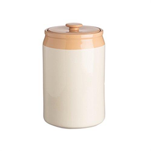 Mason Cash Original Cane Stoneware Coffee and Flour Jar, 143-Fluid Ounces, Cream, -