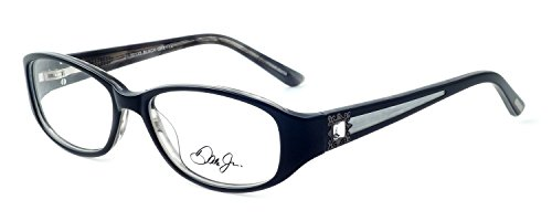 Dale Earnhardt Jr. 6793 Designer Reading Glasses in Black-Grey. Custom made using eyeglass frames and prescription reader lenses. - Made Custom Eyeglasses
