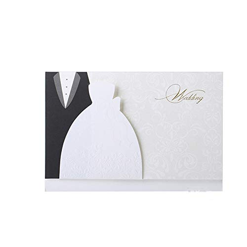 1pcs Sample Laser Cut Wedding Invitations Cards Western Groom & Bride Customize Printable Envelopes Seals Wedding Party SupplIes -