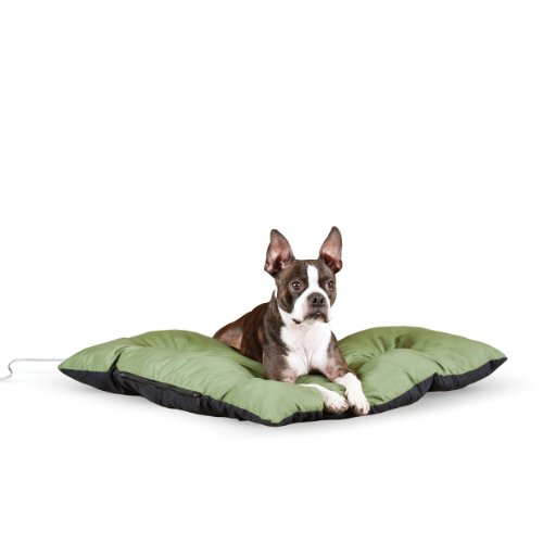 "K&H Pet Products Thermo-Cushion Heated Pet Bed Small Sage 19"" x 24"" 6W"