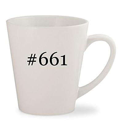 #661 - White Hashtag 12oz Ceramic Latte Mug Cup