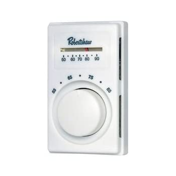 Line Voltage Thermostat, Heat Only, White