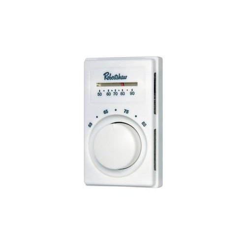 Line Voltage Thermostat, Cool Only, White