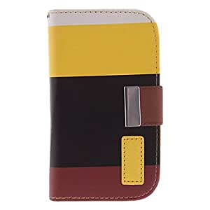 ZCL Split Joint PU Leather Pattern Protective Pouches with Buckle for Samsung Galaxy S3 Mini I8190 , Red