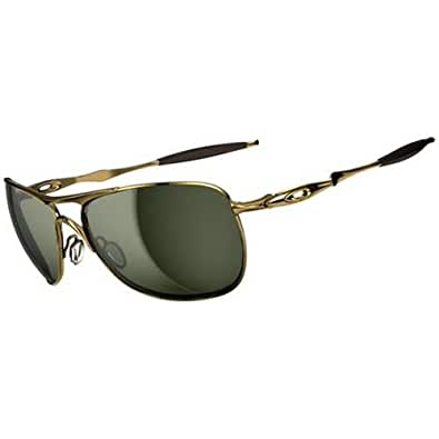 Oakley Crosshair Sunglasses - Oakley Men's Active Designer Eyewear - Polished Gold/Dark Grey / One Size Fits All