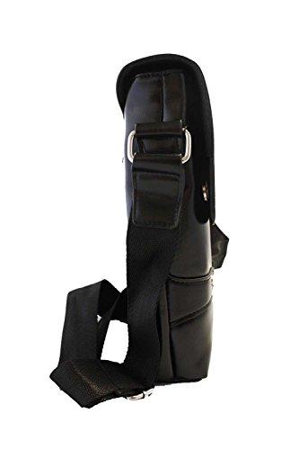 Antemi - Accesorios - Bolsa de hombro hombre elegante imitación cuero Negro
