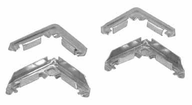 Prime-Line Frame Corners 3/4'' X 3/8'' Aluminum Pack