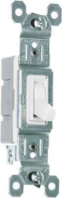 (Pass & Seymour 660WG Toggle Switch, SP, Grounding, White, 120-Volt, 15-Amp - Quantity 10)