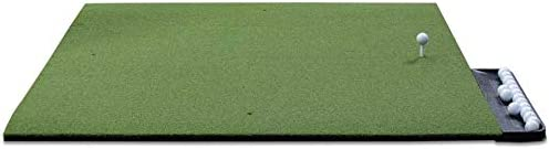 Dura-Pro Commercial Golf Mat Premium Turf. Includes Golf Tray and 3 Rubber Tees. Practice Hitting/Chipping Home Use