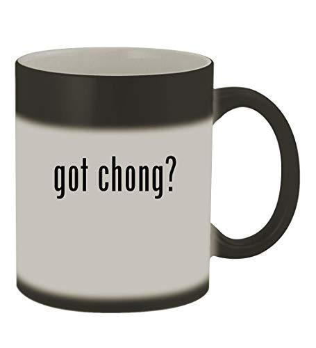 got chong? - 11oz Color Changing Sturdy Ceramic Coffee Cup Mug, Matte Black