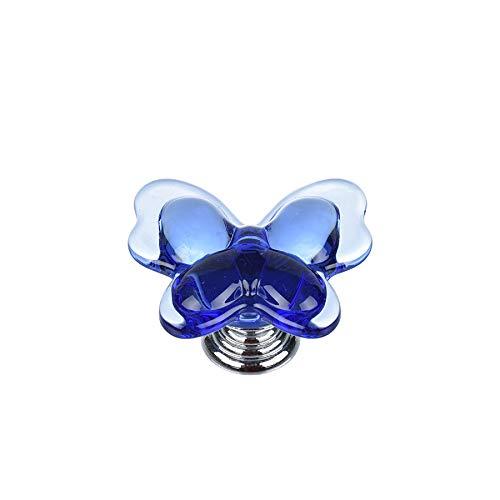 Butterfly Cabinet Knob - Shiny HANDLES8PCS Blue Crystal Cabinet Knobs,Crystal Furniture Knobs,Drawer Knobs, Kitchen Cabinets Knobs,Dresser Knobs,Cupboard Knobs,Wardrobe Knobs, Crystal Butterfly Shape