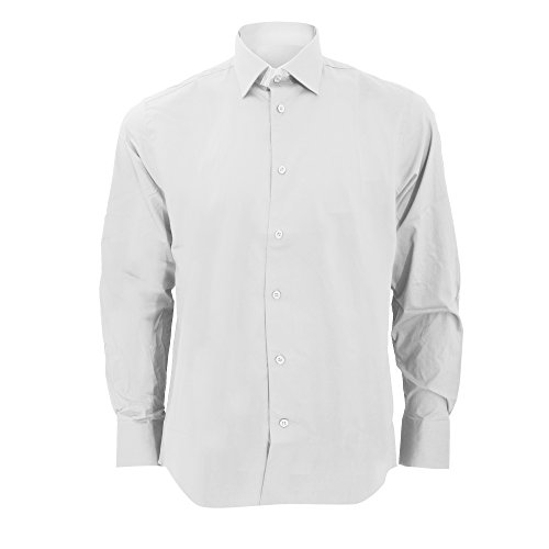 - Russell Collection Mens Long Sleeve Easy Care Fitted Shirt (18) (White)