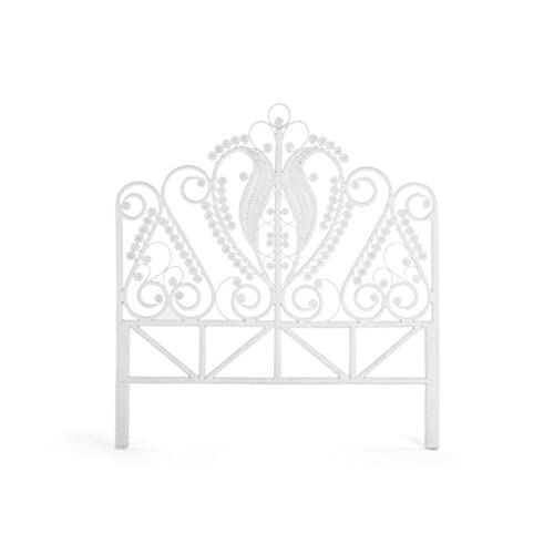Kouboo 1110051 Peacock Rattan Headboard, Full Size, White