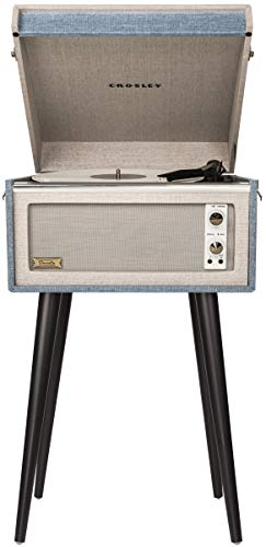 Crosley Dansette Bermuda Portable Turntable with Aux-in and Bluetooth, Tourmaline