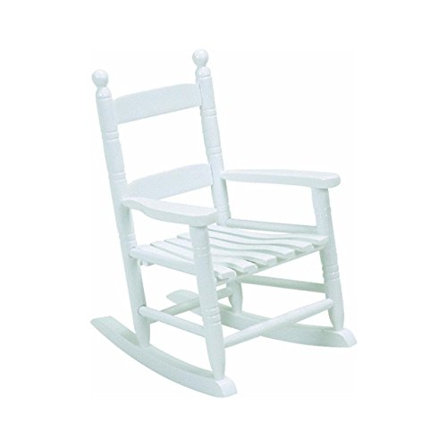 White Classic Children's Rocking Chair Wood Toddler Indoor Outdoor Toy Gift Seat