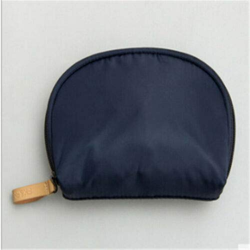 Fashion Zip Organizer Pouch Women Shell Cosmetic Bag Makeup Case Toiletry Hot QP (Color - Navy Blue)