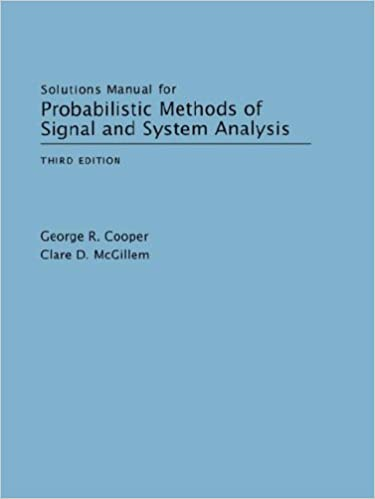 Buy solutions manual for probabilistic methods of signal and.