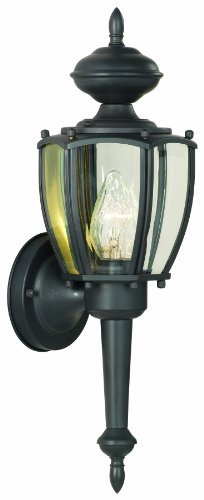 Thomas Lighting SL94727 Park Avenue Collection 1 Light Outdoor Wall Sconce, Matte Black ()