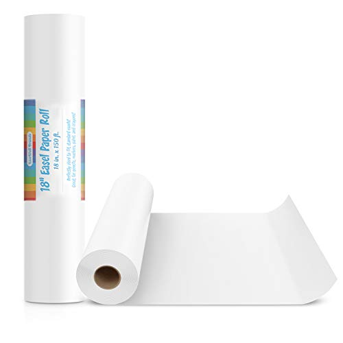 18-Inch Easel Paper Roll for Arts & Crafts, Fits Most Standard Kids Easels - Roll Easel Paper Art