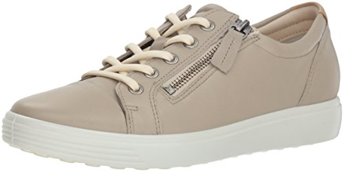 ECCO Women's Women's Soft Sneaker, oyester Side Zip, 41 M EU (10-10.5 US)