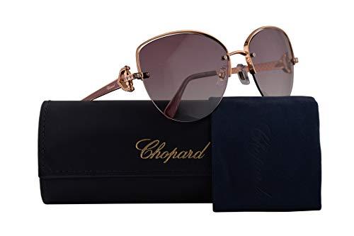 Chopard SCHC18S Sunglasses Rose Gold w/Violet Gradient Lens 60mm 08MZ SCHC 18S SCH C18S ()