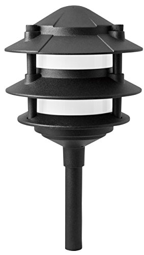 Paradise Laurentide Low Voltage 11W/12V 3 Tier Walklight, GL22764, Black