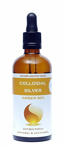 Natures Greatest Secret Amber 80% Colloidal Silver (Dropper) 100ml(Pack of 4)