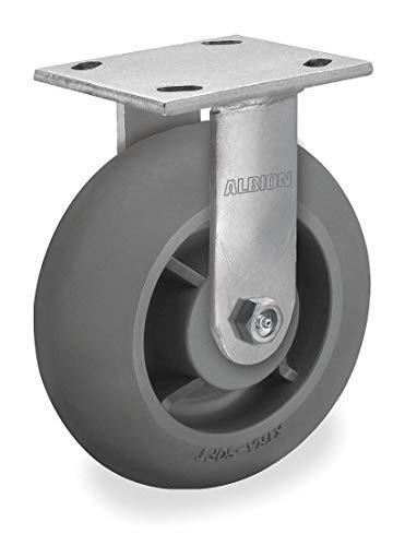 um Duty Rigid Plate Caster, 675 lb. Load Rating 16XR08228RG - 1 Each ()