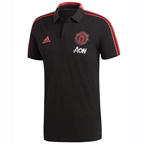 Soccer Man Utd (adidas 2018-2019 Man Utd Training Polo Football Soccer T-Shirt Jersey (Black))
