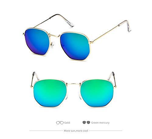 los Gafas de Espejo de de Sol Las UV400 Sol la Aprigy F de de Lujo Vendimia Hombres vidrios Gafas de Retro Gafas Sol de H del los Señora Metal del 8SP0w4qx
