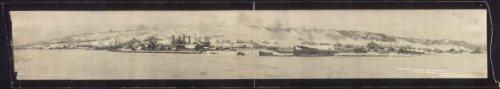 1910 Cirkut View Of Ripley From Carrols Dock  Houghten Sic  Mich  48  Vintage Pa