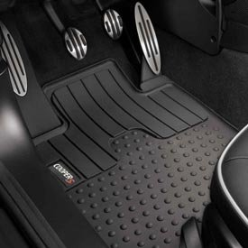 Genuine OEM MINI Cooper All Weather Front Floor Mats with COOPER S Logo (Fits 2012 MINI Coupes & 2012 MINI Roadsters) by MINI Cooper ()