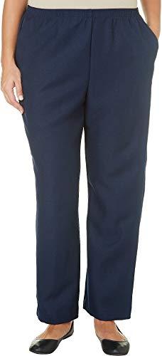 (Alfred Dunner Classics Elastic Waist Pants Navy 20W S)