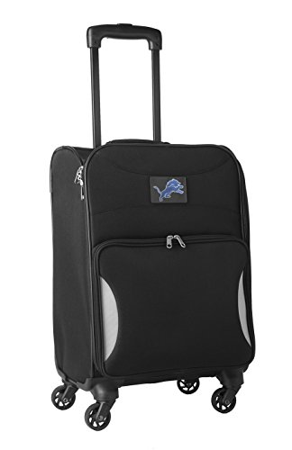 NFL Detroit Lions Lightweight Nimble Upright Carry on Trolley, 18-Inch, Black by Denco