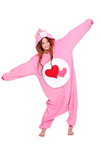 Women Men Care Bears Unisex Adult Animal Sleep Suit Cosplay Kigurumi Costume Pajamas Outfit Costume Nightclothes Onesies Clothing Pajamas Tracksuit (Care Bear Costume Adults)