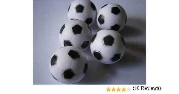 Conjunto de 5 bolas de fútbol para mesas de futbolín: Amazon.es ...