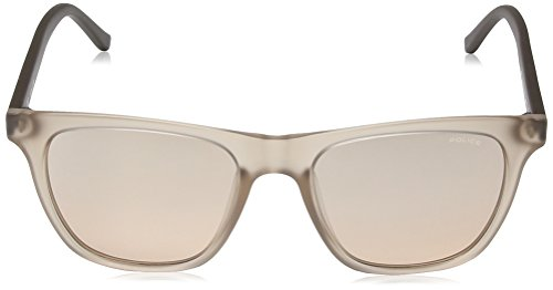 Police Men's Fine Wayfarer Sunglasses in Semi Matte Translucent Beige S1936 AAVX 53 Pink 53 by Police (Image #2)
