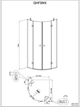 Alterna – Mampara de ducha Domino 1 4 Círculo fijo + Pivot 90 x 90 cm: Amazon.es: Hogar