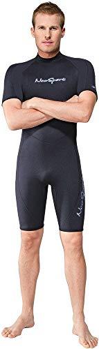 Henderson 3mm Neoprene Dive - NeoSport Wetsuits Men's Premium Neoprene 3mm Shorty, Black, Medium - Diving, Snorkeling & Wakeboarding