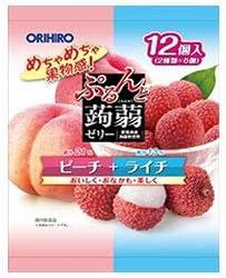 オリヒロ ぷるんと蒟蒻ゼリー ピーチ+ライチ 20gパウチ×12個×12袋入×(2ケース)
