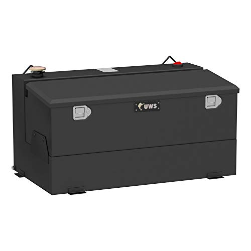UWS ST-75-COMBO-MB Combination Liquid Transfer Tank/Tool Box 75 Gallon Non Flammable Liquid Matte Black Steel Combination Liquid Transfer Tank/Tool Box by UWS (Image #1)