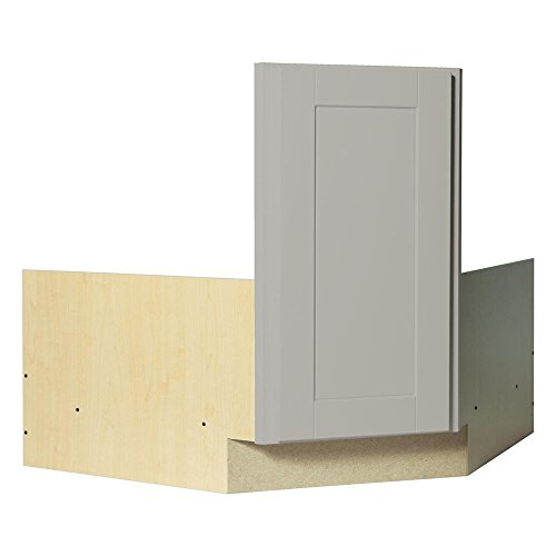 Corner Sink Base Cabinet - Hampton Bay Shaker Ready to Assemble 36x34.5x24 in. Corner Sink Base Kitchen Cabinet in Dove Gray