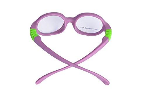 De Ding Baby Glasses Frame Baby-boys Round Retro Eyeglasses (purple)