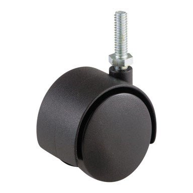 (Shepherd Hardware 9733 2-Inch Office Chair Caster, Twin Wheel, 5/16-Inch Threaded Stem Diameter, 75-lb Load Capacity)