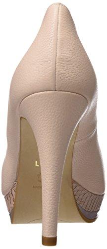 lodi Pastel-39, Zapatos de Tacón con Punta Abierta para Mujer Rosa (Ginger Nude)